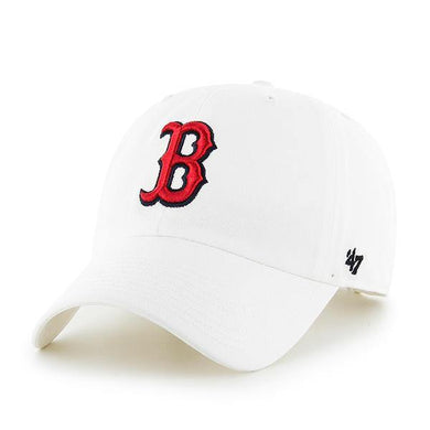 Boston Red Sox 47 Brand White Clean Up Adjustable Hat