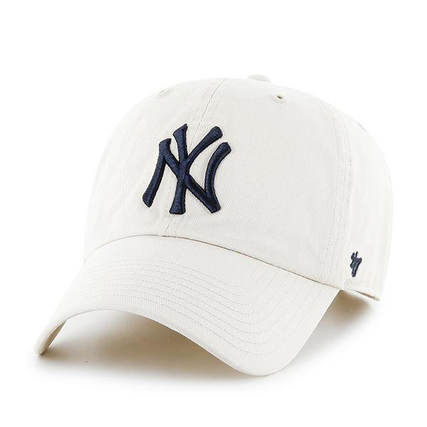 '47 MLB Mens Brand Clean Up Cap One-Size Natural - City Limit NY