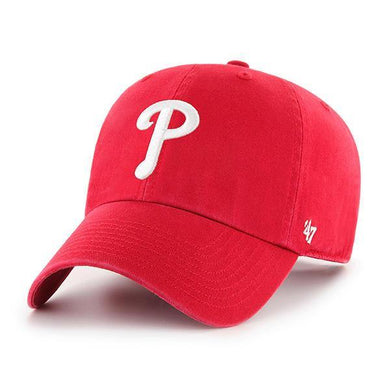 MLB Philadelphia Phillies '47 Clean Up Adjustable Hat, Red, One Size - City Limit NY
