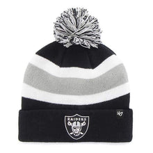 Load image into Gallery viewer, Oakland Raiders 47 Brand Black Breakaway Cuff Knit Hat