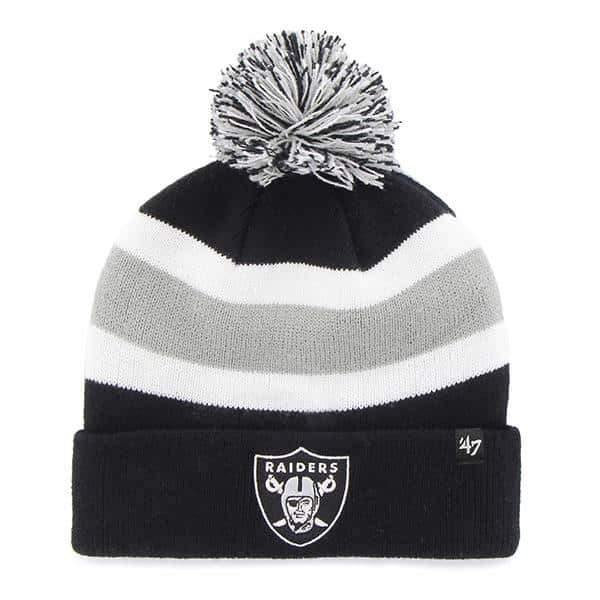 Oakland Raiders 47 Brand Black Breakaway Cuff Knit Hat - City Limit NY