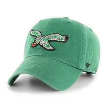 Load image into Gallery viewer, '47 Men's Brand Green Philadelphia Eagles Clean Up Adjustable Hat