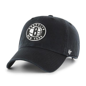 Brooklyn Nets Black 47 Brand Clean Up Dad Hat - City Limit NY