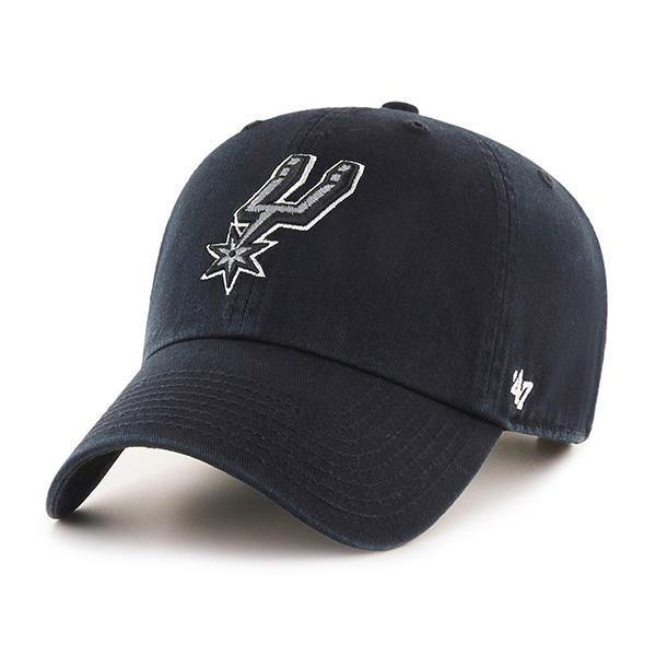 47 Brand San Antonio Spurs NBA Clean Up Strapback Baseball Cap Dad Hat