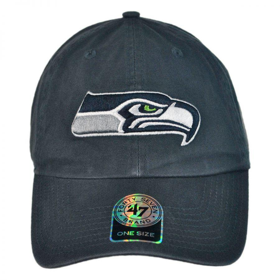 Seattle Seahawks NFL Clean Up Strapback Baseball Cap Dad Hat