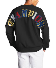 Load image into Gallery viewer, Champion Men's Life® Men's Reverse Weave® Crew, Old English Lettering Black