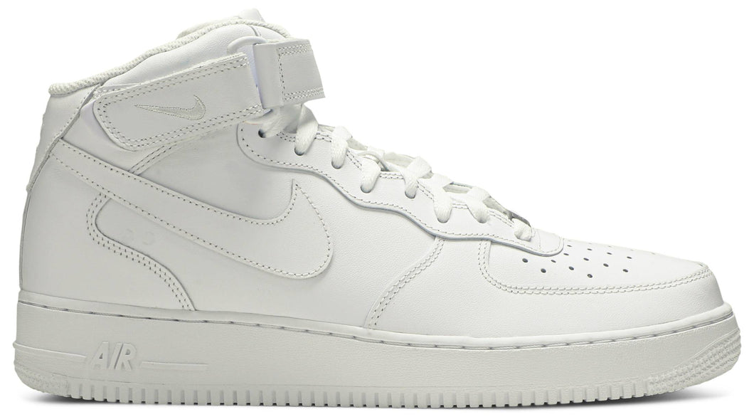 Nike Air Force 1 '07 Triple White Mid 315123 111 Mens