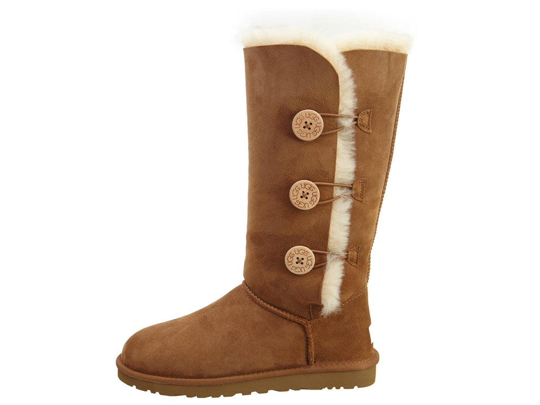 UGG Bailey Button Triplet Women's Boots- Chestnut - City Limit NY