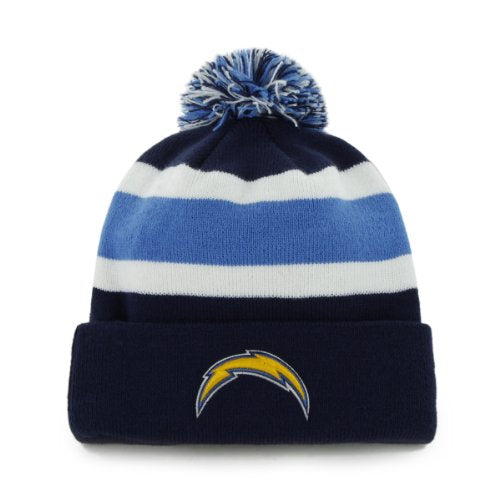 Los Angeles Chargers 47 Brand Navy Breakaway Cuff Knit Hat
