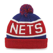 Load image into Gallery viewer, Nets '47 Brand Calgary Cuff Beanie Hat POM POM - NBA Cuffed Knit Cap - City Limit NY