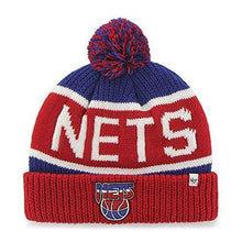 Load image into Gallery viewer, Nets '47 Brand Calgary Cuff Beanie Hat POM POM - NBA Cuffed Knit Cap