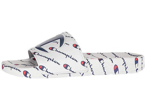 Champion Men's IPO Repeat Slide Sandals White Red Black Flip Flops Casual Shoes - City Limit NY