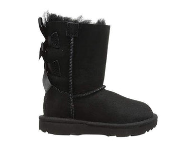 UGG Kids Bailey Bow II (Toddler) Black - City Limit NY