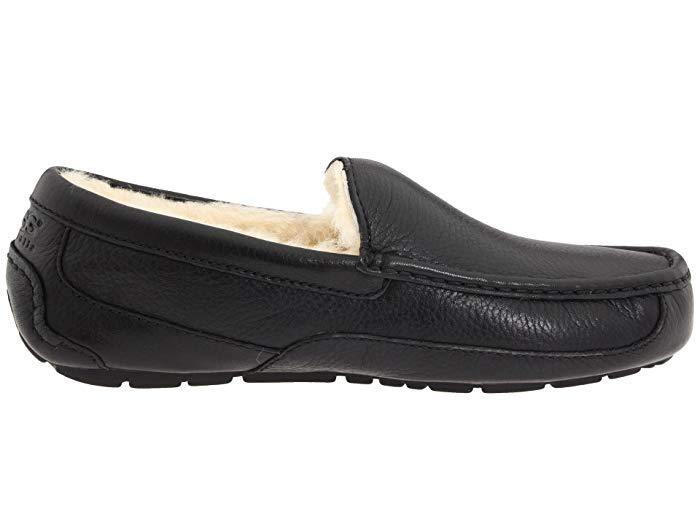 Mens UGG Ascot Leather Black