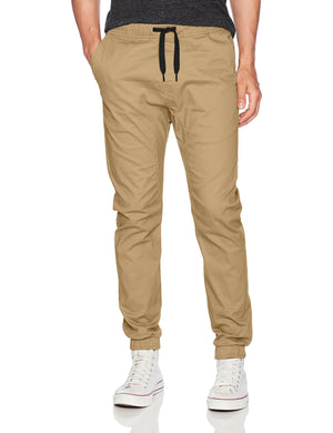 WT02 Men's Jogger Pants Stretch Twill Fabric Khaki - City Limit NY