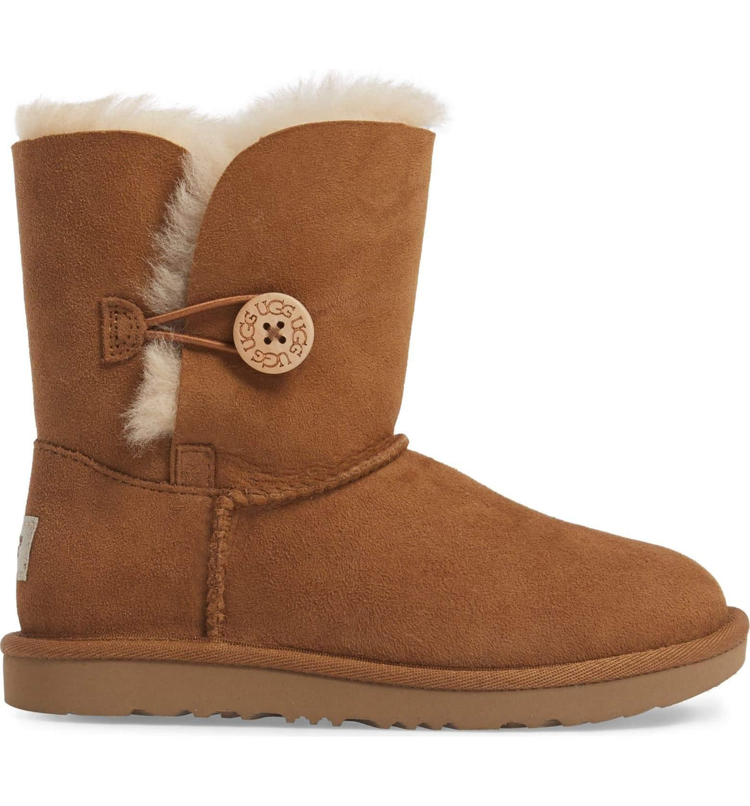 UGG Kids Bailey Button II (Big Kids) Chestnut