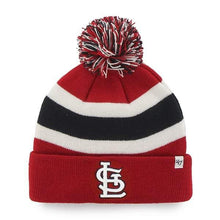 Load image into Gallery viewer, St. Louis Cardinals Breakaway Cuff Knit Red 47 Brand Hat