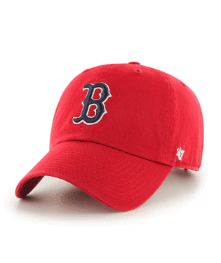 '47 Brand Red Sox Garmet Washed Red Cap Red
