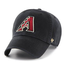 Load image into Gallery viewer, Arizona Diamondbacks Clean Up Black 47 Brand Adjustable Hat
