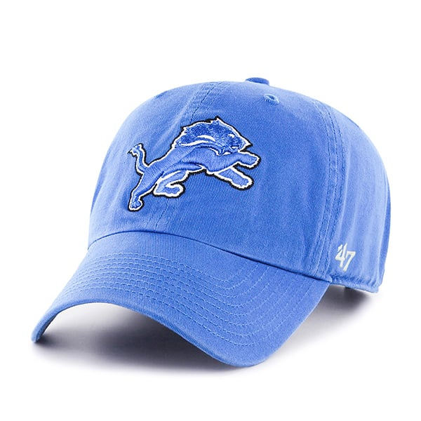 `47 Brand Detroit Lions  Blue Raz YOUTH Clean Up Adjustable Hat