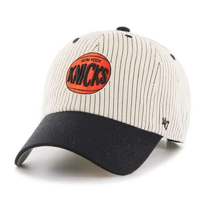 New York Knicks Pinstripe Home Run Two Tone Clean Up Black 47 Brand Adjustable Hat