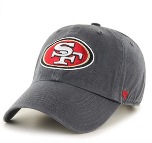 NFL '47 Clean up Adjustable Charcoal Hat One Size Fits All San Francisco 49ers