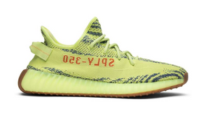DS Adidas Yeezy Boost 350 V2 YEEZREEL kanye west yellow mens sneakers