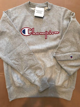 Load image into Gallery viewer, Mens Champion Reverse Weave Pullover Sweatshirt -Grey Champion LOGO