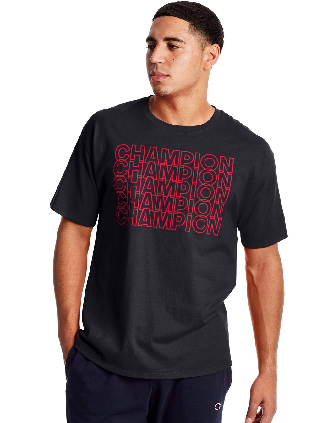 Champion Classic Jersey Tee, Repeating Block Logo - City Limit NY