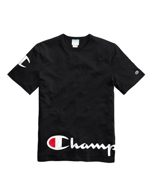 Champion Life® Men's Heritage Tee, Wraparound Logo Black