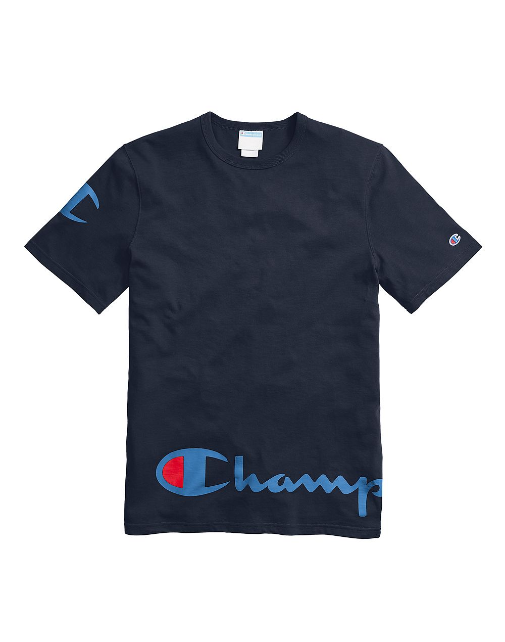 Champion Life® Men's Heritage Tee, Wraparound Logo Navy