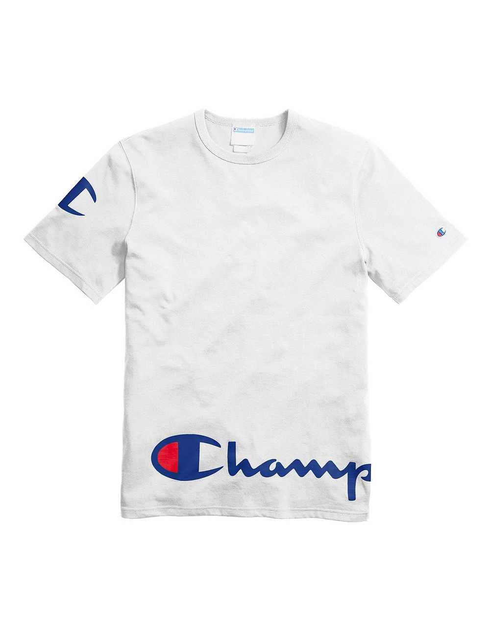 Champion Life® Men's Heritage Tee, Wraparound Logo White