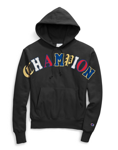 Champion Life® Men's Reverse Weave® Pullover Hoodie, Old English Lettering Black
