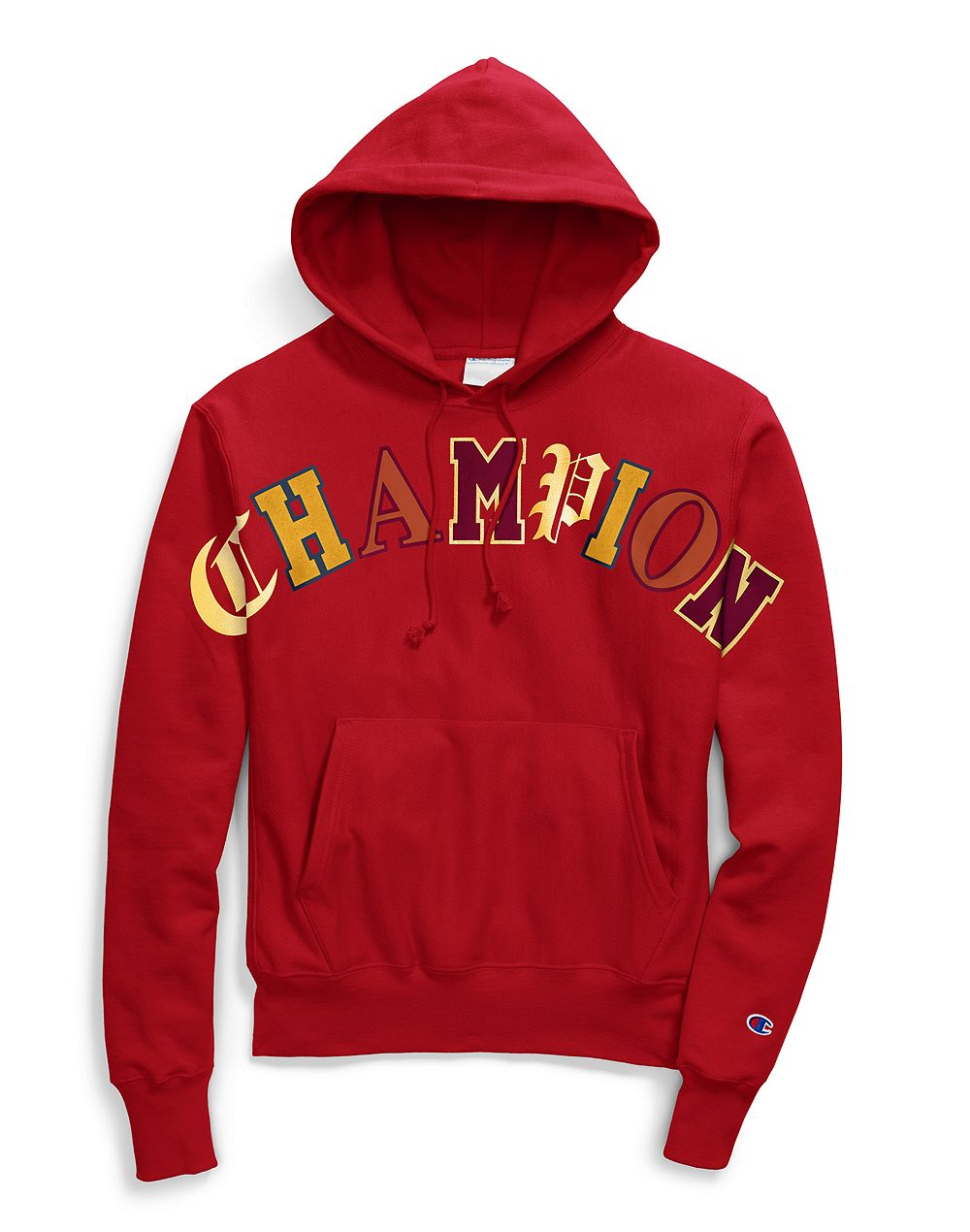 Champion Life® Men's Reverse Weave® Pullover Hoodie, Old English Lettering Red - City Limit NY
