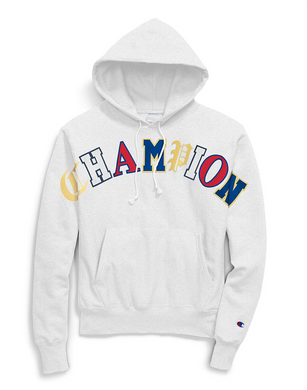 Champion Life® Men's Reverse Weave® Pullover Hoodie, Old English Lettering Silver Grey
