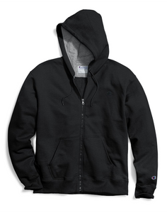 Champion Men's Powerblend Fleece Full Zip Hoodie Black