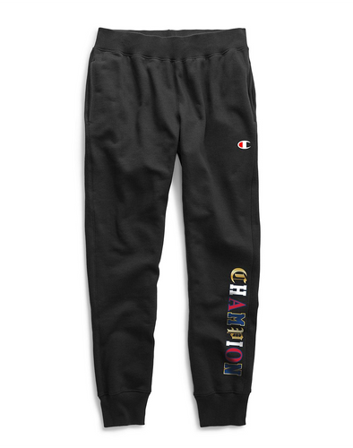 Champion Men's Old English Script Jogger Pants Black