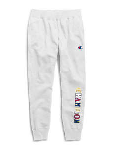 Champion Life® Men's Reverse Weave® Joggers, Old English C Logo Silver Grey - City Limit NY
