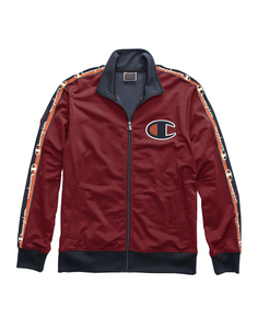 Champion Life® Men's Track Jacket, Big C & Logo Taping Cherry Pie/Navy - City Limit NY