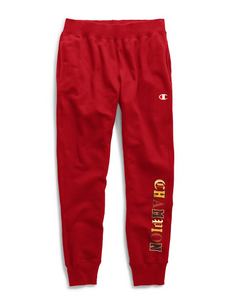 Champion Life® Men's Reverse Weave® Joggers, Old English C Logo Team Red Scarlet - City Limit NY