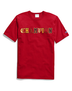 Champion LIFE Men's Heritage Tee, Red w/Old English Lettering - City Limit NY