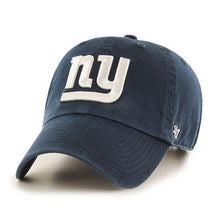 Load image into Gallery viewer, '47 Brand New York Giants NFL Clean Up Adjustable Adult Hat Dark Navy Blue