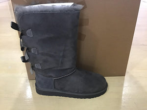 Kids Bailey Bow Tall Uggs 1007309 K Grey - City Limit NY