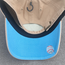 Load image into Gallery viewer, New York Yankees 47 Brand Khaki Clean Up Adjustable Hat with Sky Blue Brim