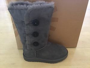 Kids Grey Ugg Bailey Button Tall 1962 - City Limit NY
