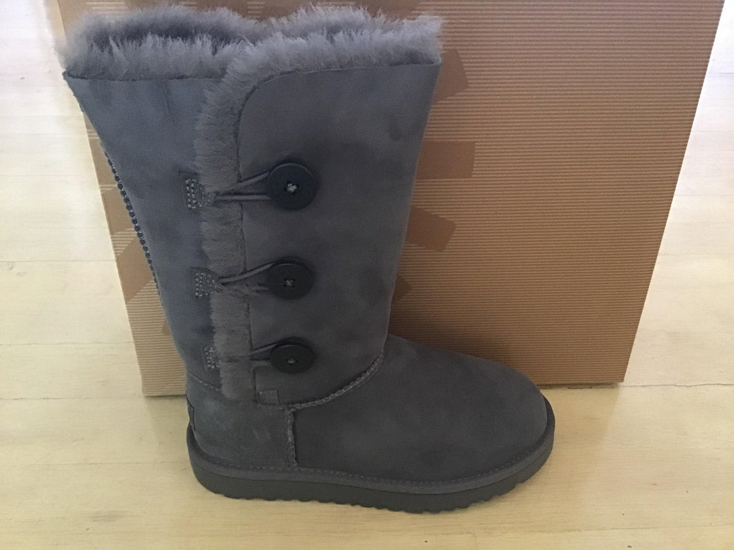 Kids Grey Ugg Bailey Button Tall 1962