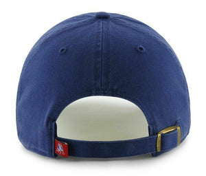 47 Brand. New England Patriots Clean Up Cap - Throwback Logo - Royal Blue
