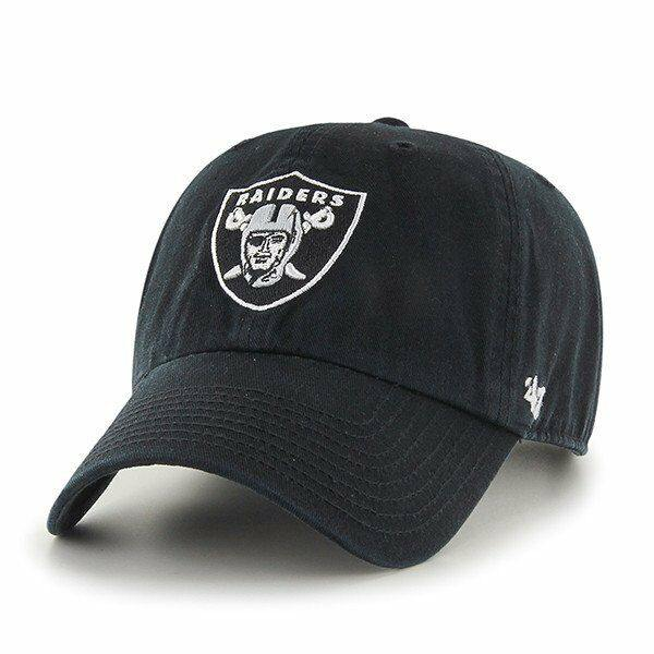 Oakland Raiders '47 Brand Black Clean Up Adjustable Dad Hat - City Limit NY
