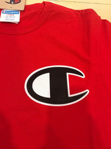 CHAMPION Men's Heritage Tee BIG C LOGO T-SHIRT --RED - City Limit NY