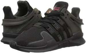 Adidas Originals Big Kids EQT Support ADV Sneaker Black/Black/White BB0238